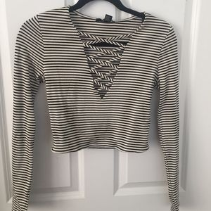 Forever21 | LS Crop Top | Size L